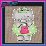 CUTE ELEPHANT DESIGN JUTE  SHOPPING LADIES GIFT BAG 001